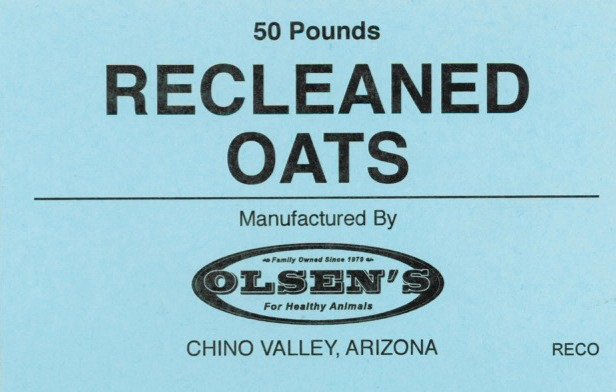 Recleaned oats Mill Tag