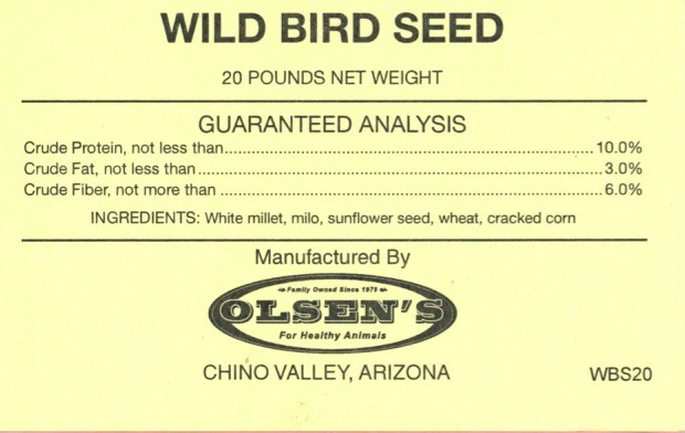 Wild Bird 20# Mill Tag