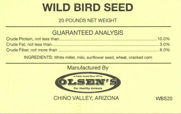 Wild Bird 20# Mill Tag