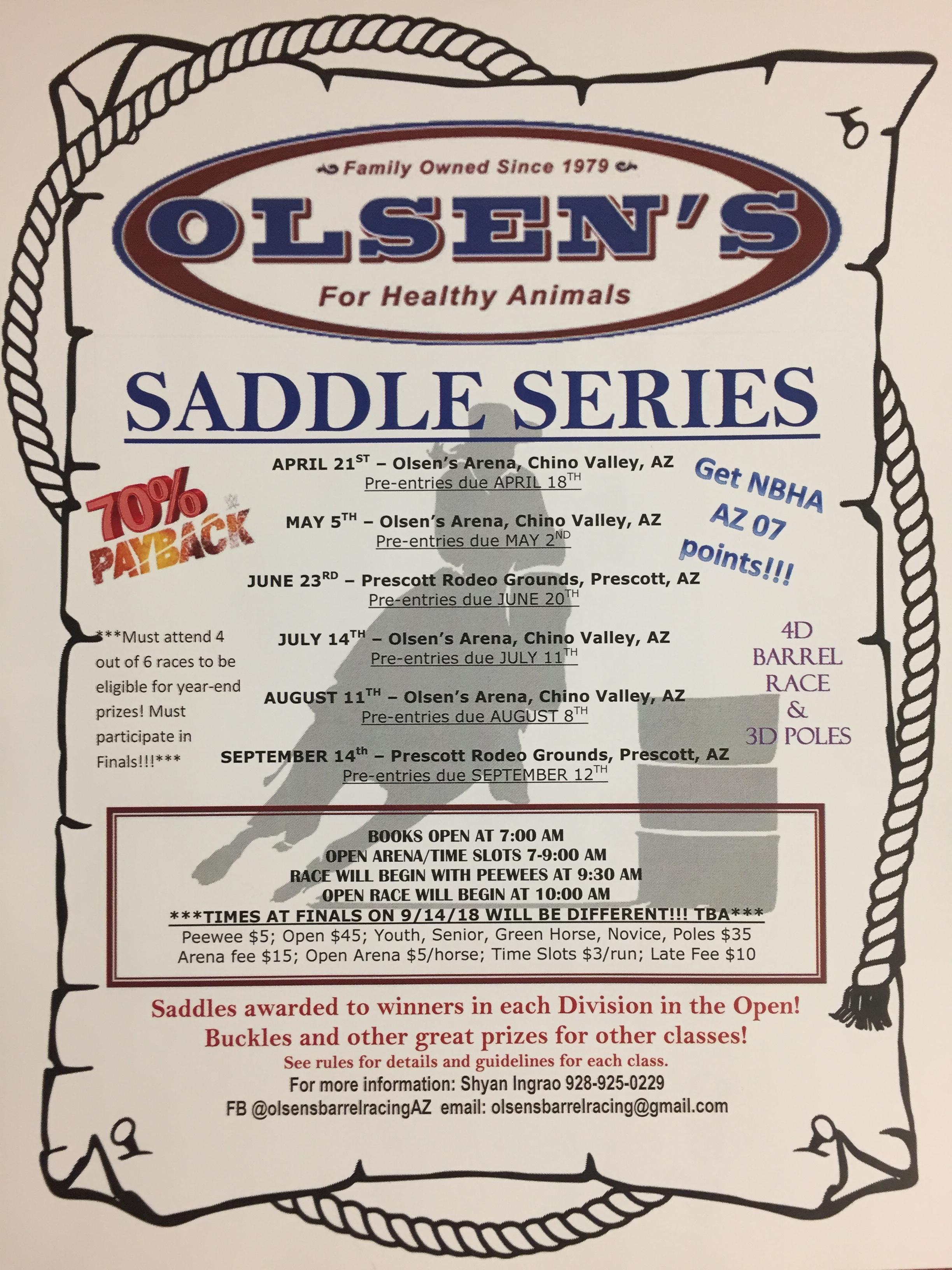 2018 Equifest Saddle Series | Olsen's Grain