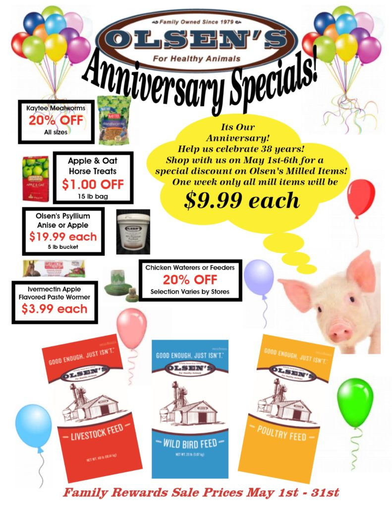 May Family Rewards Anniversary Specials