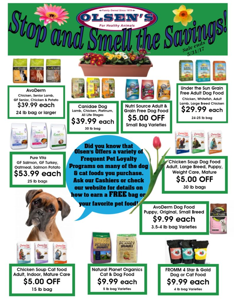 May 2017 Family Pet Rewards Savings
