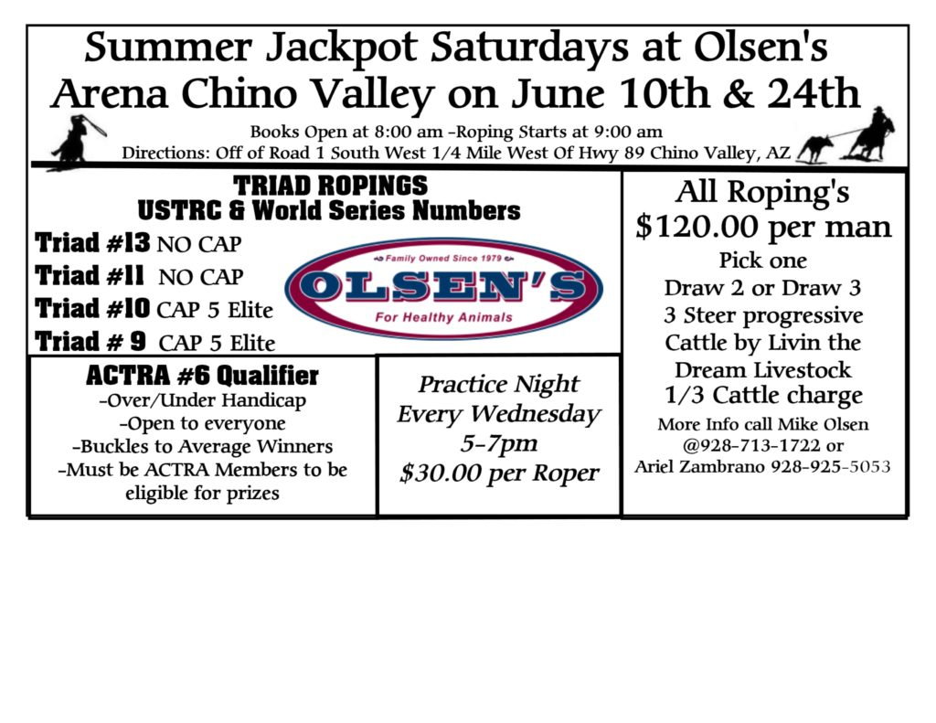 Chino Valley Roping Event