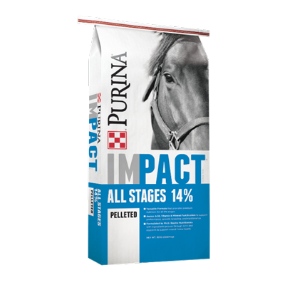 Impact All Stages 14% Pelleted Horse Feed