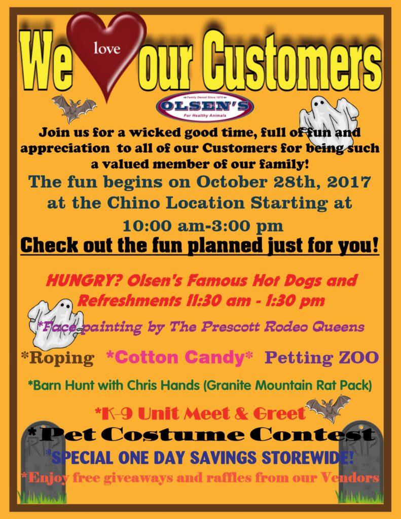 October Customer Appreciation Day
