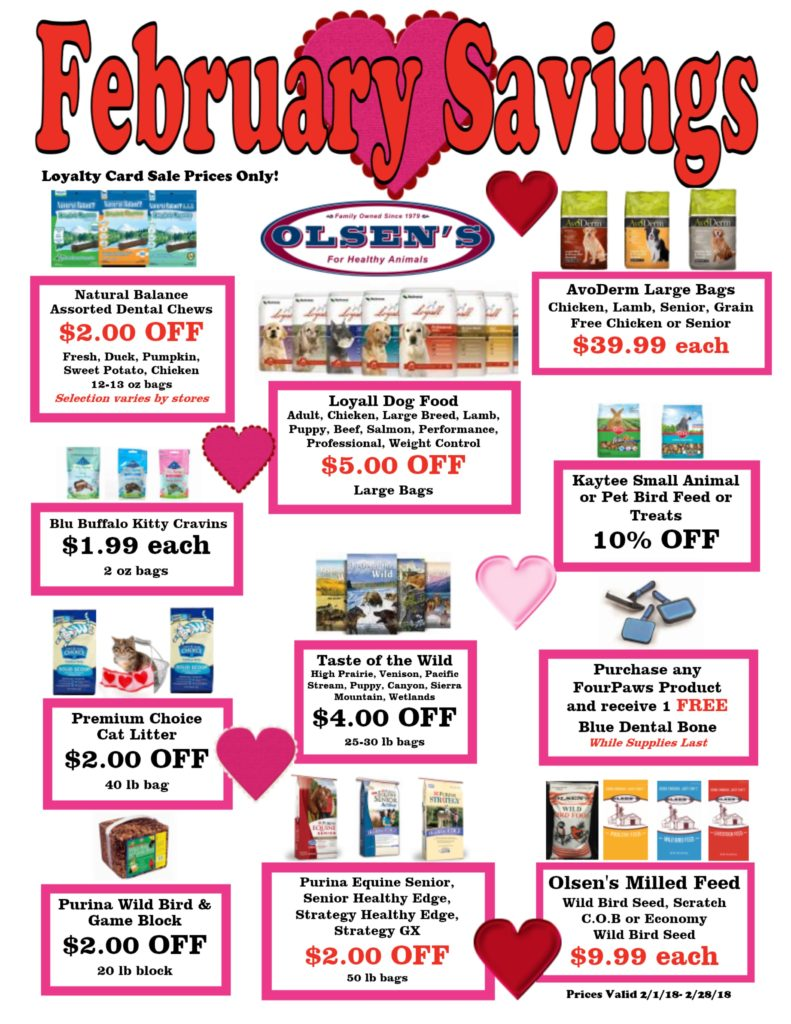 February 2018 Family Rewards Specials