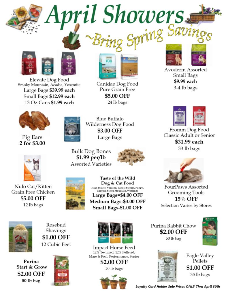 April 2018 Family Rewards Specials