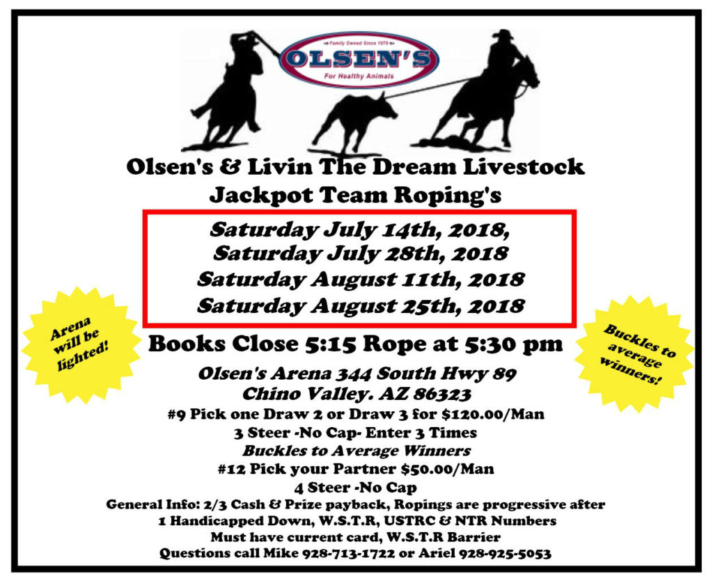 Livin' the Dream Livestock Roping Events