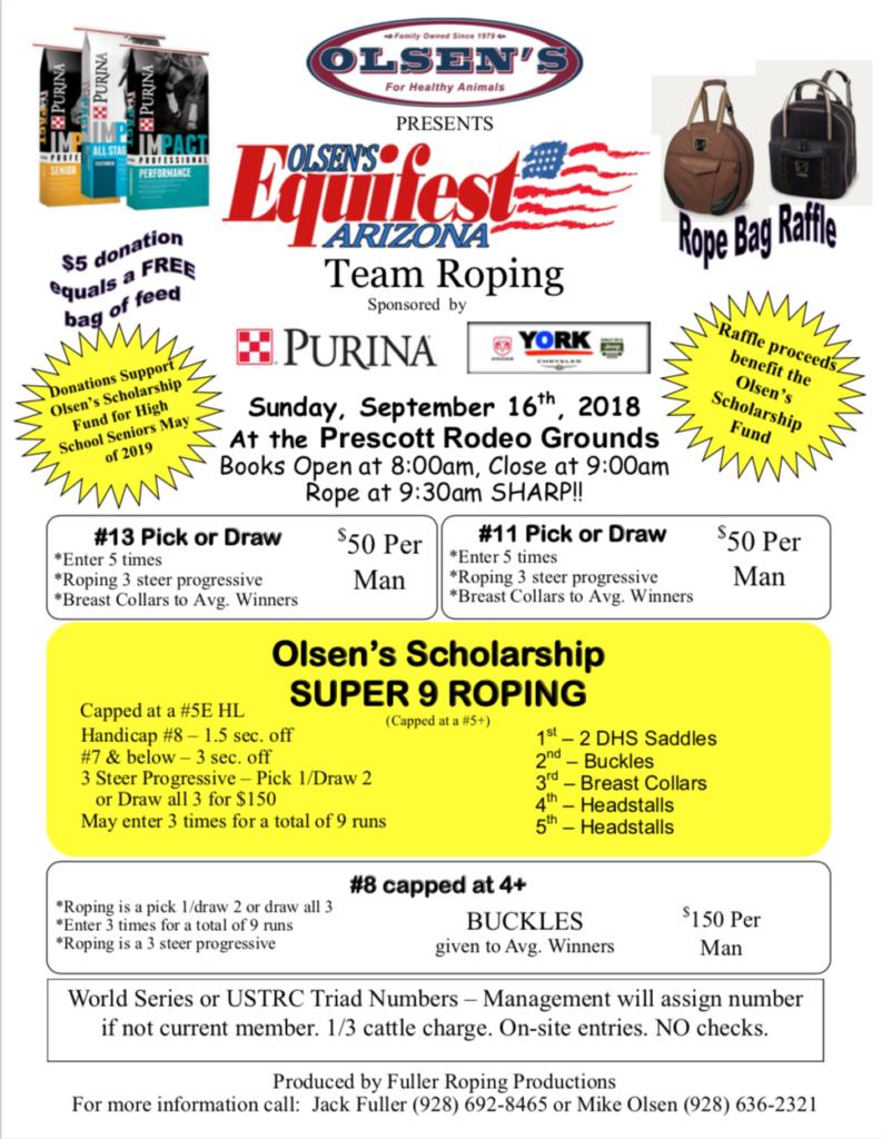 2018 Equifest Team Roping Event | Olsen's Grain