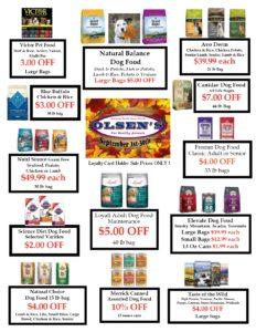 September 2018 Family Rewards Specials | Olsen's Grain