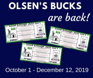 olsen's bucks